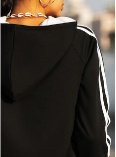 縞模様の 長袖 パーカー