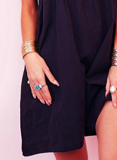 Solid Shift Short Sleeves Mini Casual Tunic Dresses
