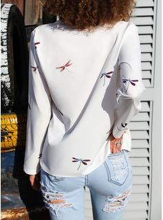 Animalske Udskriv Lapel Lange ærmer Casual Shirt Skjorter
