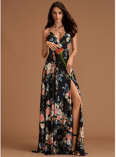 A-line Sleeveless Maxi Dresses