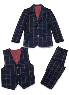 Chlapci 3 kusy Přehoz Obleky pro nosiče prstenů /Page Boy Obleky S Bunda Západ Kalhoty