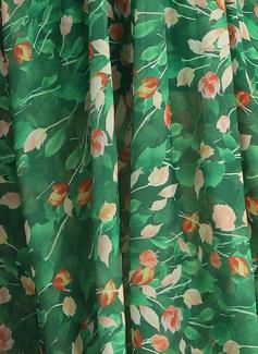 Maxi Escote en V Viscosa Impresión Sin mangas Vestidos de moda