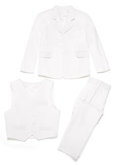 Rapazes 3 peças Sólido Roupas de Pajem /Ternos Menino Página com Jaqueta Oeste calça