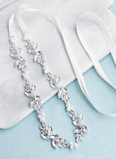 Elegante/Único/Con estilo Satén Fajas con Diamantes de imitación/La perla de faux