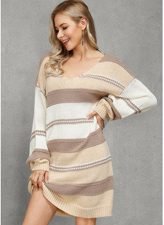 Eine-Schulter Lässige Kleidung Lange Farbblock Zopfmuster Grobstrick Pullover