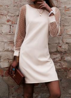 Solid Sheath Lantern Sleeve Long Sleeves Mini Party Sexy Dresses