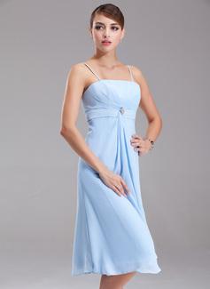 Loading zoom. Ladataan. Väri  Taivaansininen. Empire-tyylinen Polvipituinen  Sifonki Morsiusneitojen mekko jossa Kristallirintakoru ... ba3d80a62c