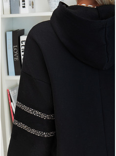 Sequins Figure Long Sleeves Hoodie