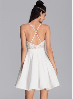A-line Sleeveless Mini Back Details Sexy Dresses