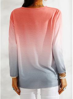 Print Gradient Mælkebøtte Figur Rund hals Lange ærmer Sweatshirts