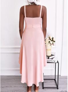 Sólido Vestido línea A Sin mangas Midi Elegante Patinador Tipo Vestidos de moda