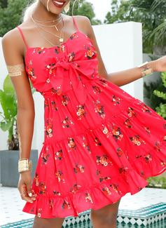 Spaghetti Straps Polyester Dresses