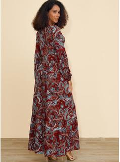 Viscosa con Impresión Maxi Vestido