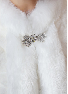 Faux Fur Wraps With Imitation Rhinestone