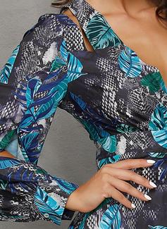 Del chinlon con Impresión/Abetura Maxi Vestido