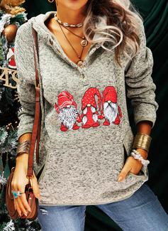 Print Lange ærmer Jule sweatshirt