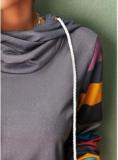 Color Block Long Sleeves Hoodie