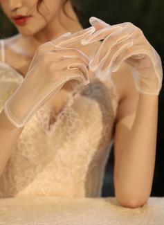 Tyl Po zápěstí Svatební rukavice