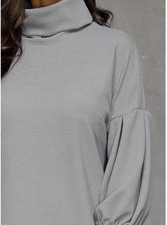 カジュアル 固体 セーター