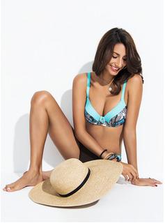 Bikinis Poliester Spandex Niski stan Wydrukować Dla kobiet tak Stroje kąpielowe