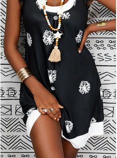 Impresión Vestidos sueltos Midi Casual Vestidos de moda