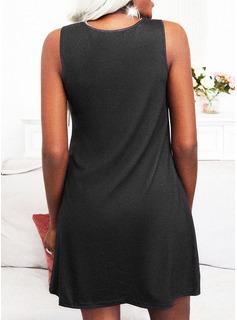 Print Sheath Sleeveless Mini Casual Vacation Dresses