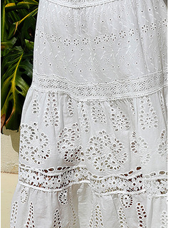 Lace Solid A-line Sleeveless Maxi Elegant Skater Dresses