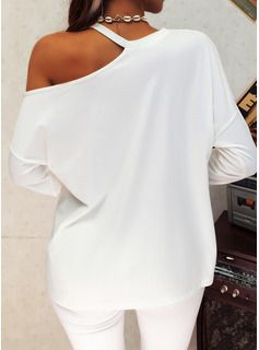 Sequins One Shoulder Long Sleeves Casual Blouses