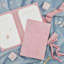 Prezenty Narzeczonej - Spersonalizowane Wdzięczny Tłoczenie Okładki Zamsz Vow Booklet