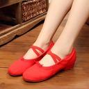 Femmes Toile Talons Ballet Chaussures de danse