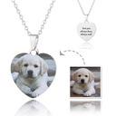 Personalizado Plata Corazón Impresión En Color Collar De La Foto - Regalos Del Día De La Madre