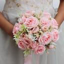 Elegante Redondo Flores de seda Ramos de novia - Ramos de novia