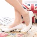 Femmes Similicuir Talon bas Bout fermé chaussures