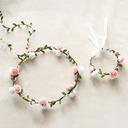 Piękny Jednorazowy Kwiat Okrągły Material Zestawy kwiatowe - Nadgarstek stanik/Stroik Kwiat