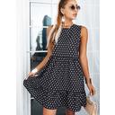 Lunares Vestidos sueltos Sin mangas Mini Casual Vestidos de moda (294258263)