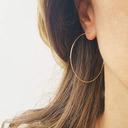 Damer' Enkel koppar örhängen Brudtärna/För Henne