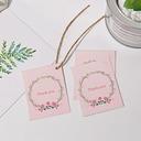 """""""tak skal du have"""" Perle Papir Favoritiketter Og Klistermærker med Rustik Twine (Sæt af 100)"""