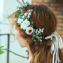 Classic Round Artificial Flower Headdress Flower (Sold in a single piece) - Headdress Flower
