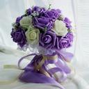 Charmant Rond Satiné Bouquets de mariée -