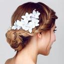 Glamour Fleur en soie Fleurs et plumes