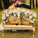 Enkel/Klassisk stil/Bruden og Brudgommen Tre Wedding Sign (sett av 2)