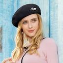 Ladies ' Elegancki Poliester Z Stras/ Krysztal Górski/Perła Beret Hat