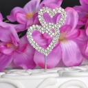 Double Hearts Alloy Cake Topper (Sold in a single piece)