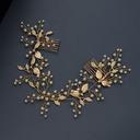 Vakkert Legering/Imitert Perle Pannebånd med Venetianske Perle (Selges i ett stykke)