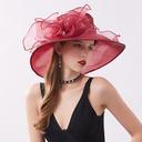 Ladies ' Elegancki/Nicea Organza Z Kwiaty Plaża / niedz Kapelusze/Kapelusze Kentucky Derby/Czapki Tea Party
