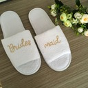 Bridesmaid Gifts - Velvet Cloth Slippers (256174704)
