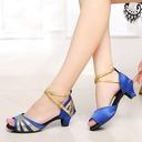 Enfants Satiné Pailletes scintillantes Talons Sandales Latin Chaussures de danse