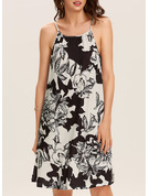 Floral Print Sheath Sleeveless Mini Boho Casual Vacation Type Dresses
