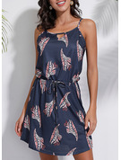 Print A-line Sleeveless Mini Casual Vacation Type Dresses