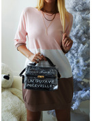 Color Block Shift 1/2 Sleeves Mini Casual T-shirt Dresses